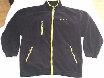 FuBu full-zip fleece jacket men sz M Navy Yellow vintage 90s