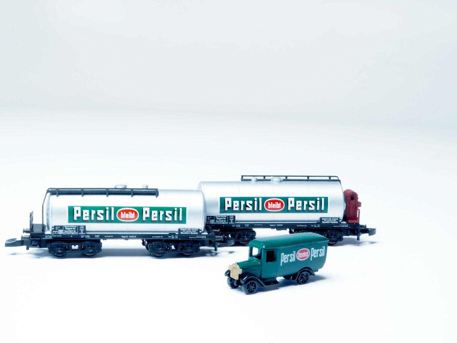 Marklin Z escala 82071 DRG  Persil  2 Tanque, Car Set con camión era II