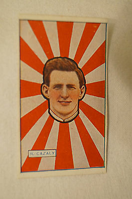 South Melbourne - 1920's - J.J Schuh Vintage Magpie Cigarette Card - Roy Cazaly