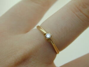 Vintage-Diamond-Solitaire-0-06cts-9ct-Gold-Engagement-Ring-1-3g-1985-size-O-1-2