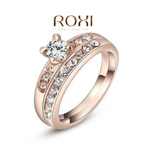 Image Is Loading 18k Rose Gold Filled Engagement Ring Clic Real