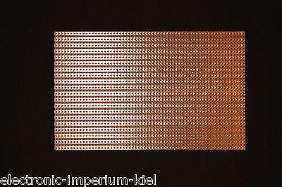 Hartpapier Lochrasterplatte 160x100mm Kupfer-Streifenraster Rastermaß 5,08mm