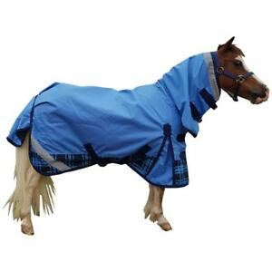 LOVE-MY-HORSE-600D-Rainsheet-3-039-3-4-039-9-Combo-Waterproof-Horse-Rug-Blue-Tart