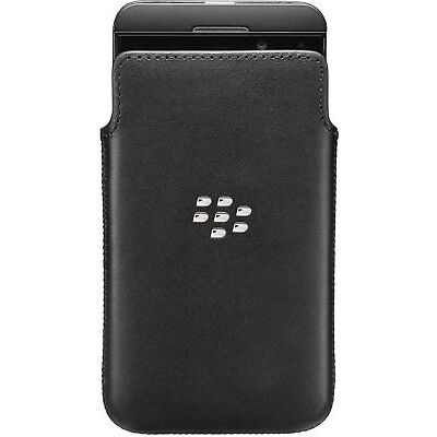 BlackBerry Leather Pocket for BlackBerry Z10 - Black