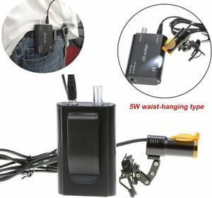 Dental-5W-LED-Head-Light-Metal-Clip-on-with-Filter-Belt-Clip-for-Glasses-Black