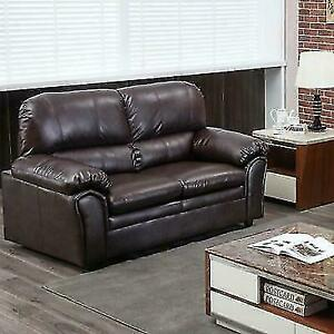 BestMassage XPGD57BROWNFDW Loveseat 2 Seat Leather Contemporary Sofa Couch  - Brown