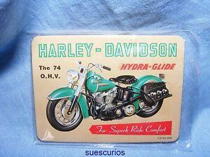 Harley-Davidson-Hydra-Glide-Advertising-Magnet-NEW-Garage-Motorbike-Present-Gift