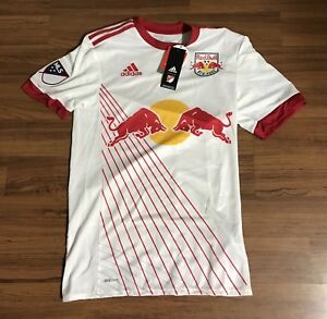 90411399c Adidas MLS New York Red Bull Authentic Climacool Soccer Jersey Mens ...