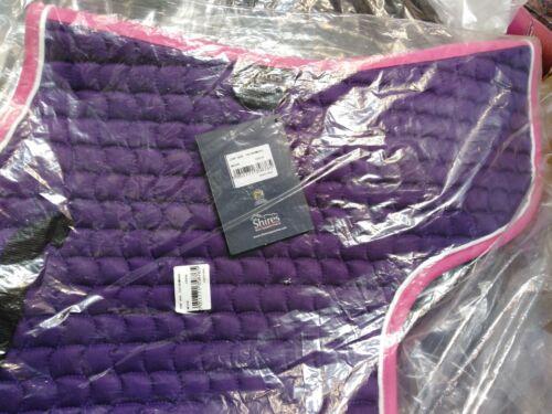 Shires Wave Quilted GP Numnah//Saddlecloth Purple//Pink Cob Medium