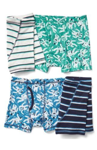 Gap Kids Boys Underwear Boxer Briefs Astronauts Pack Of 4 Size Large 10 New