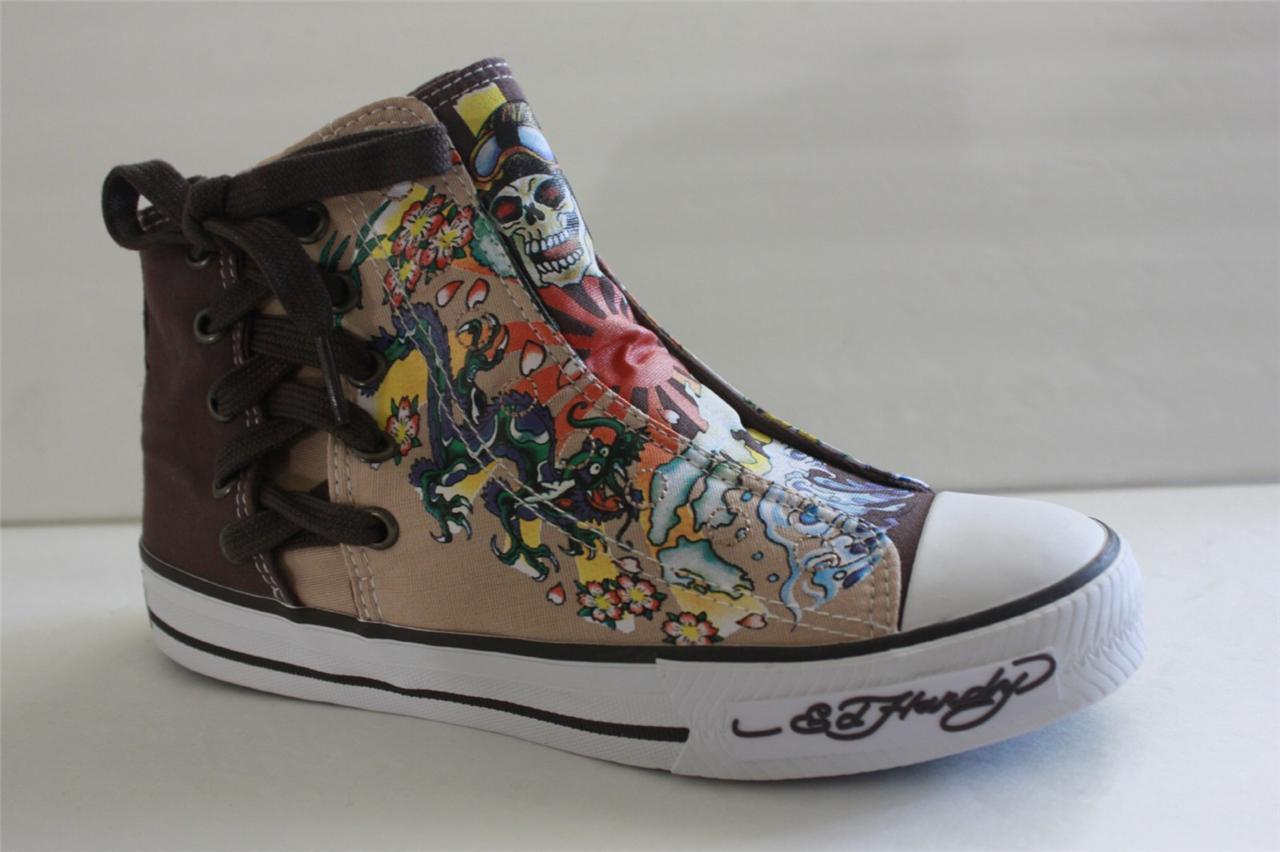 Ed Hardy Highrise Los Feliz Damens Braun Canvas Athletic Athletic Athletic Fashion Sneaker Schuhe 5 M cc0a3e