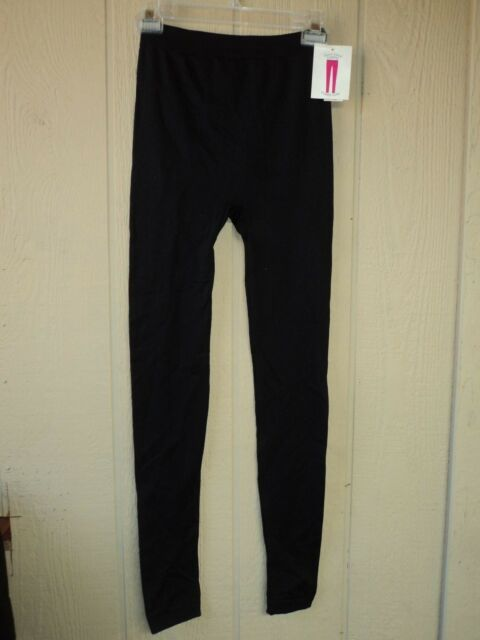b4bbb2cf70d5f1 NWT BOBBIE BROOKS MISSY SIZE SMALL/MED BLACK STRETCH FLEECE LINED KNIT  LEGGINGS