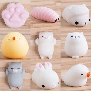 Cute Mochi Squishy Cat Squeeze Healing Fun Kids Kawaii Toy Stress Reliever Decor eBay