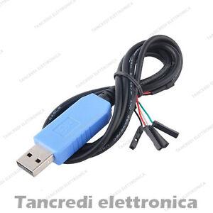 Cavo Adattatore Convertitore da USB TTL a RS232 con chip PL2303TA per Windows...