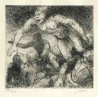 WIE EINE FURIE - Adolf SCHINNERER 1921 handsignierte OrigRadierung - MÜNCHEN