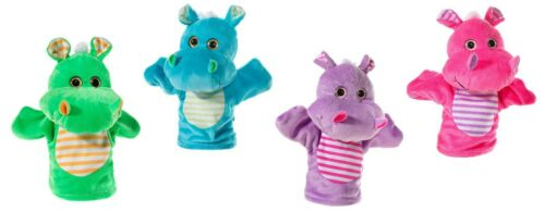 lila Handspielpuppe Hippo pink Handpuppe -Heunec Neu /& OVP grün 20cm blau