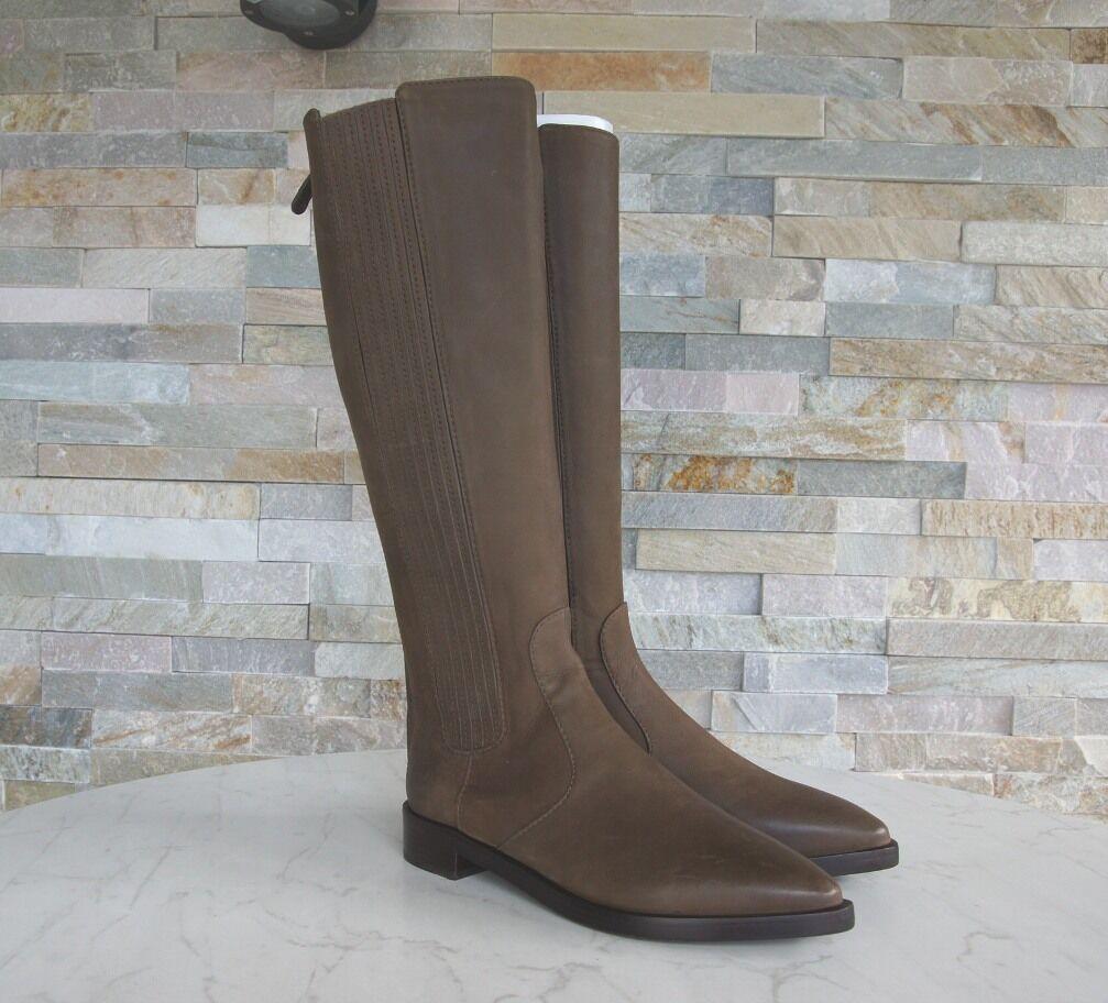 Luxus TORY BURCH Schuhe Gr 37 Stiefel Stiefel Schuhe BURCH schuhe 31148323 schlamm NEU bf7985