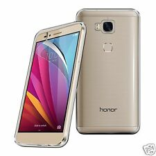 Tough Thin Clear TPU Gel Case Cover & Screen Guard for Huawei Honor 5X