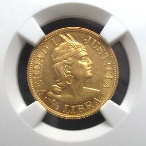 PERU-1904-ROZF-1-2-LIBRA-FINEST-NGC-MS61-1-2L-KM-209-GOLD