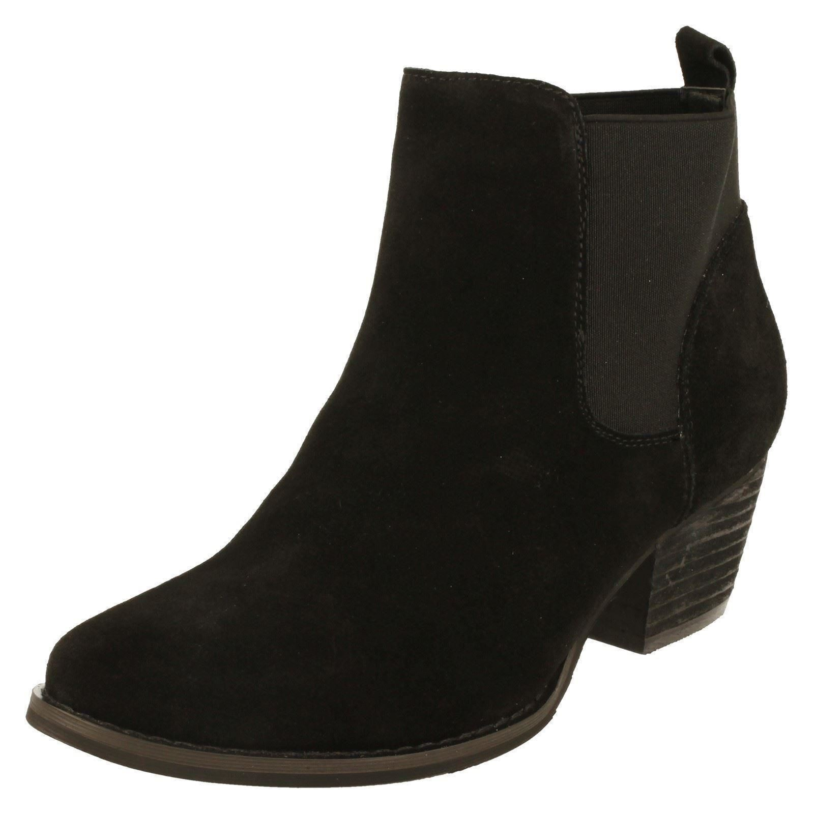 Down To Earth F5R0678 Ladies Ankle Boots Black Suede  (R33A)