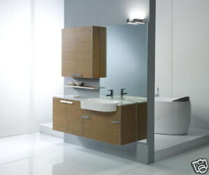 Mobile bagno Evolution laminato Teak lavabo cassettone | eBay
