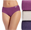 Jockey 3-Pack Elance Hipsters 100/% Cotton Comfort Underwear PLUM HEATHER ASST