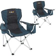 2 x Oztrail Touring LIGHTWEIGHT 3.1kg Auminium Folding Camping Picnic Chair