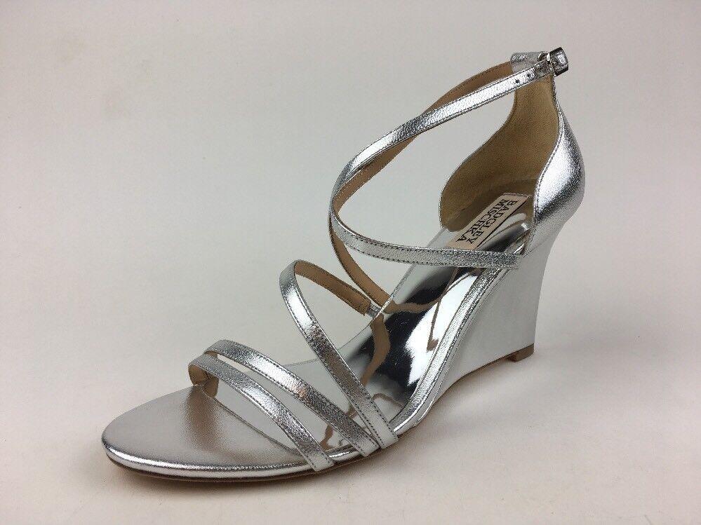 Badgley Mischka Bonanza Wedge Sandals-Women's size 8, Silmet 288