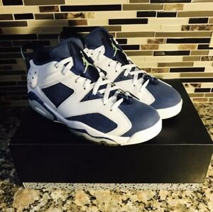 13f2c24c8f7643 Nike Air Jordan 6 Retro Low Ghost Green Seahawks VNDS Size 8 304401 ...