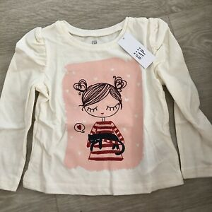 SALE-Baby-Gap-Girls-Toddler-Long-Sleeve-Shirt-12-18-Months-New-With-Tags
