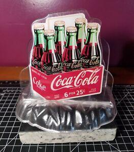 Coke-Coca-Cola-1995-Vintage-Napkin-Straw-Dispenser-Plastic-Retro-Style-Fast-Ship