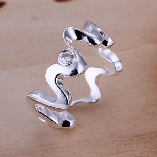 Livraison gratuite Wholesale sterling solid silver Fashion incrusté Ripple Ring xlsr 029