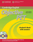 Objective PET Student's Book with Answers with CD-ROM by Louise Hashemi, Barbara Thomas (Mixed media product, 2010)