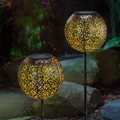 Solar Gartenstecker Orient warmweiße LED Gartendeko Solarleuchte esotec 102383