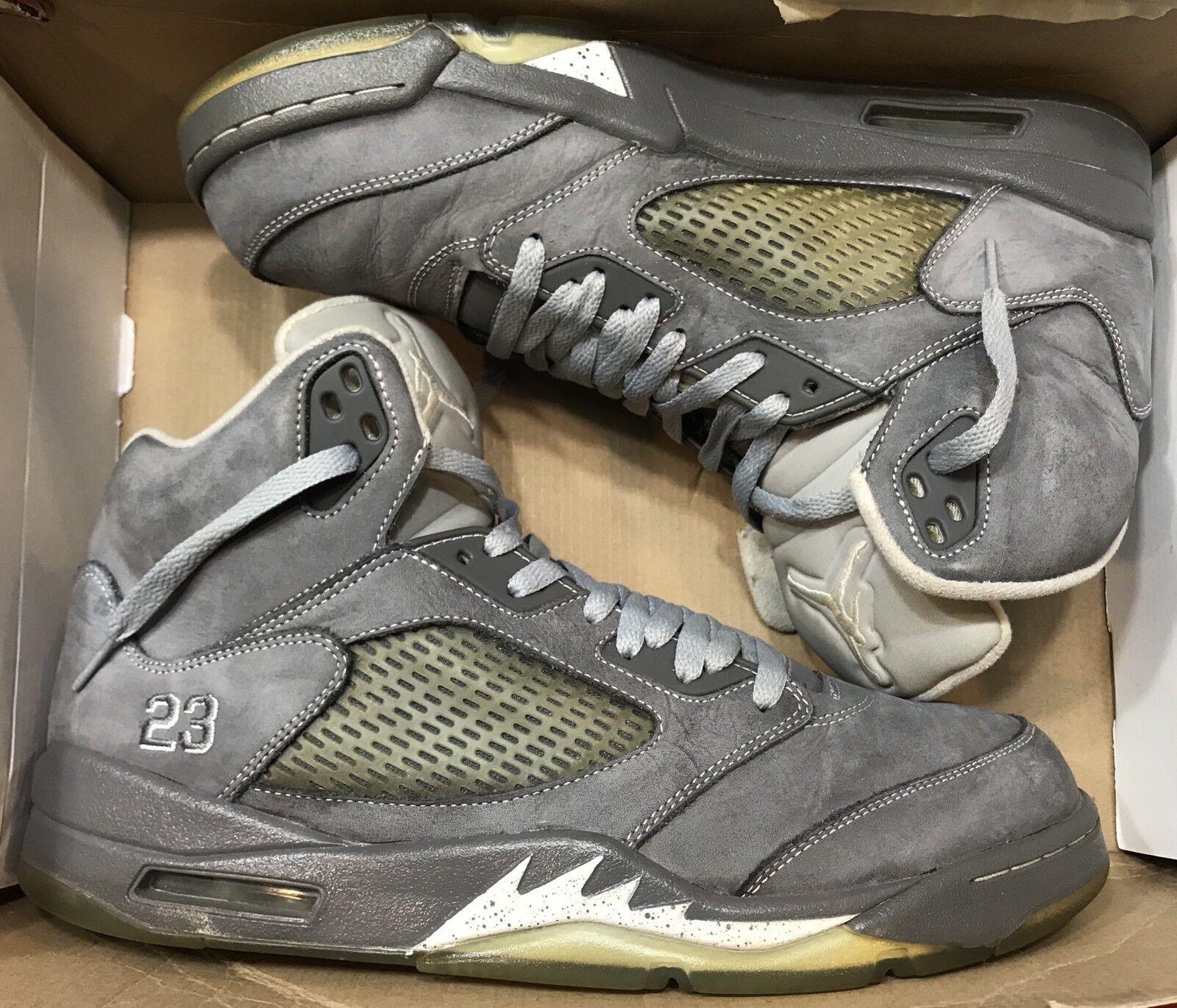 2018 Jordan Metálico Retro V Gris Lobo 5 Blanco Negro Metálico Jordan cemento III 136027-005 dcd9b3
