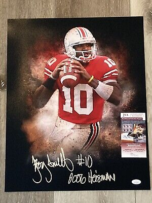 Troy Smith signed Ohio State Buckeyes 16X20 Photo Autographed College Photos
