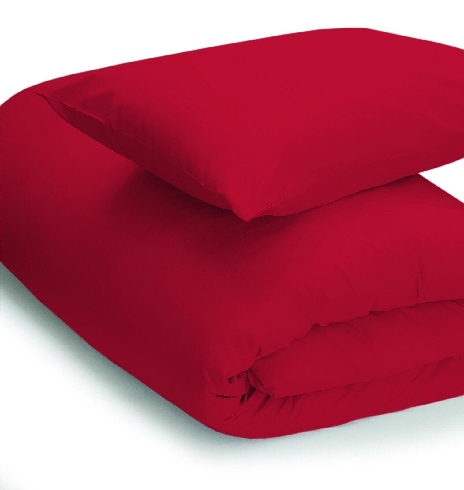 200 Thread Count Polycotton Polycotton Polycotton Duvet Cover Set King Bed Größe in rot 229cm x 218cm 143bd8
