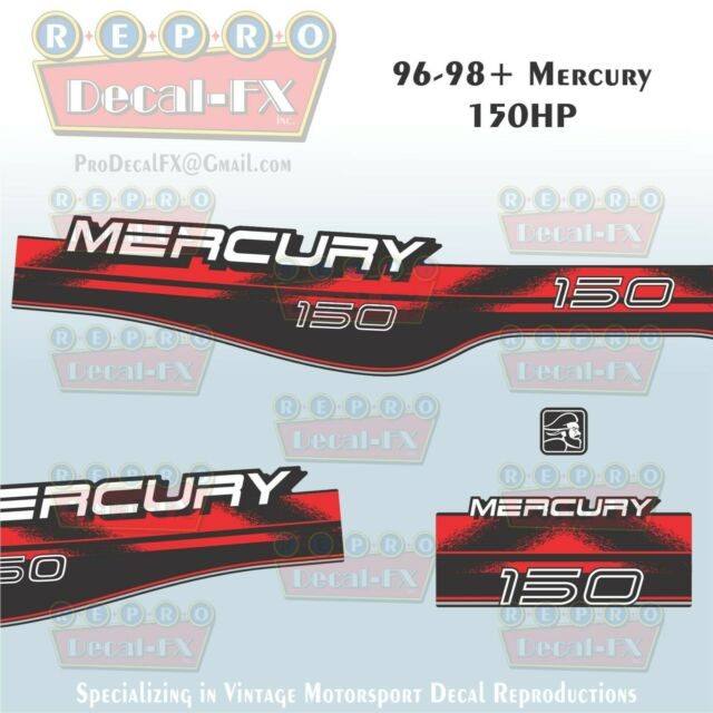 1996 98 Mercury 150hp Carb Decal Outboard Reproduction