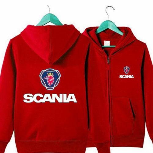 Newest SCANIA Printed Hoodie Warm Jacket Sweatshirt Full-Zip Coat Spring coat