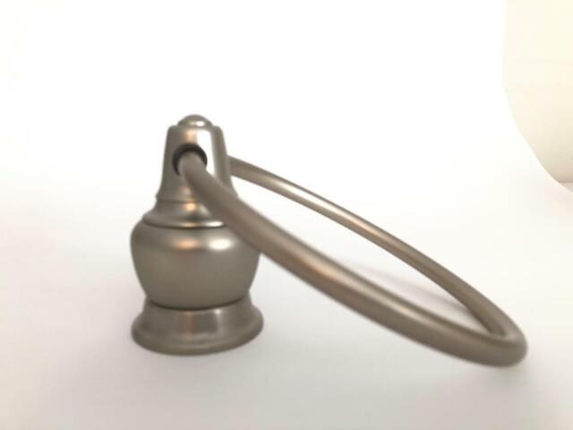 New Decorator Series. Platinum//Brass YB4786PMC Moen Towel Ring High Quality
