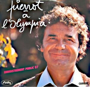 PIERRE-PERRET-pierrot-a-l-039-olympia-LIVE-1987-2LP-039-S-CARRERE-femme-papyvole-VG
