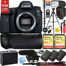 Canon 6D Mark II Full-Frame EOS DSLR Camera Pro Memory Power Recording Bundle