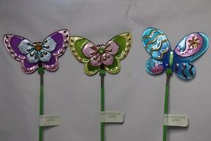 Mission Gallery Garden Butterfly Stake   Multi Colors | EBay