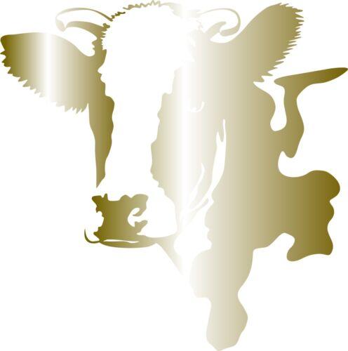 Window Wall Display Farm Dairy Cow Animal Cow Head Decal vinyl sticker