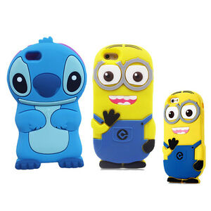 Lovely-Kids-3D-Cute-Despicable-Me-MinionsCartoon-Soft-Silicone-Rubber-Cover-Case