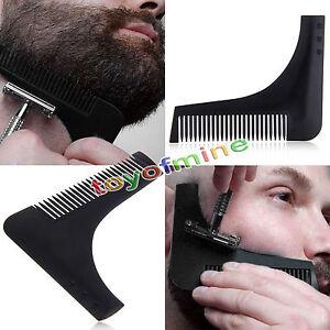 Plantilla-modelado-Barba-Peine-Para-Peinar-herramienta-recorte-linea-facial-care