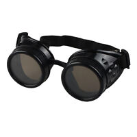 Welding Cyber Punk Gothic Victorian Cosplay Vintage Steampunk Goggles Glasses