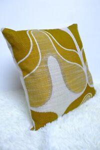 Retro-Cushion-Cover-16x16-034-Amazing-Original-60s-70s-Woven-Fabric-Green