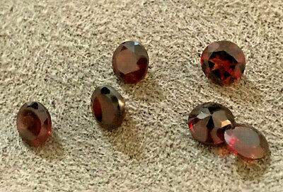 Genuine lot of 6 stones Topaz 6mm Round;  Natural Untreated Best Quality