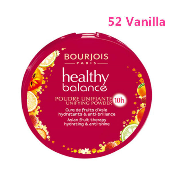 BOURJOIS Healthy Balance Compact Foundation Powder 52 Vanilla,100%sealed